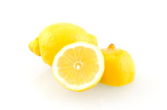 Fresh sliced lemon. On white background Stock Image