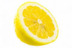 Fresh sliced lemon isolated on white Royalty Free Stock Photo