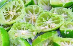 Fresh sliced lemon squeezed Royalty Free Stock Image