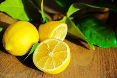 Fresh Sliced Lemon Stock Images