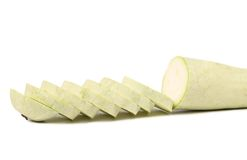 Fresh sliced marrow vegetable. Isolated on a white background Stock Photography