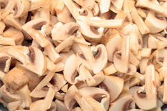 Fresh sliced Mushrooms Champignons Stock Photos