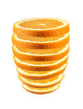 Fresh sliced orange. Fresh sliced orange isolated on white background Stock Image
