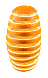 Fresh sliced orange. Fresh sliced orange isolated on white background Royalty Free Stock Photos