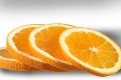 Fresh sliced orange. Stock Photography