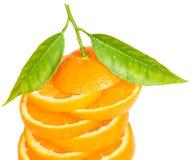 Fresh sliced orange Stock Images