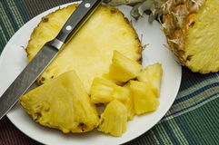 Fresh sliced pineapple Royalty Free Stock Image
