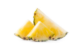 Fresh sliced pineapple isolated on white Stock Images