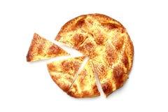 Fresh Sliced Pita. Isolated on white background Stock Images