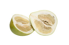 Fresh Sliced Pummelo. Isolated on white background with clipping path Royalty Free Stock Images