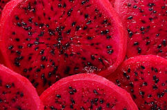 Fresh sliced red dragon fruit closeup Royalty Free Stock Photo