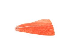 Fresh sliced red fish salmon. Stock Photo