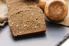 Fresh sliced rye bread Royalty Free Stock Images