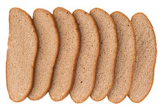 Fresh sliced rye bread isolated on white background cutout. Royalty Free Stock Photo
