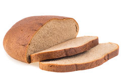 Fresh sliced rye bread loaf isolated on white background cutout Stock Photography
