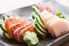 Fresh sliced sashimi Royalty Free Stock Image