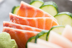 Fresh sliced sashimi Stock Image