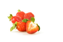 Fresh Sliced Strawberry Stock Photos