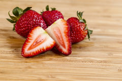 Fresh Sliced Strawberry Stock Photo