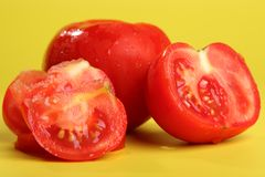 Fresh sliced tomato Royalty Free Stock Photos