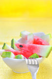 Fresh sliced watermelon Royalty Free Stock Image