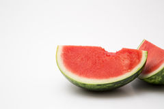 Fresh sliced watermelon. Ripe ready to eat on white background stock images