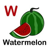 Fresh sliced watermelon with spelling word. Illustration of Fresh sliced watermelon with spelling word stock illustration