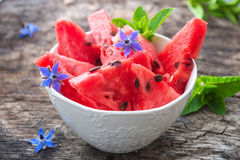 Fresh sliced watermelon Stock Photo