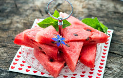 Fresh sliced watermelon Royalty Free Stock Photos