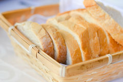 Fresh sliced white bread in basket Royalty Free Stock Photography