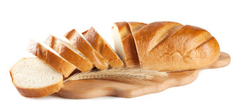 Fresh sliced white loaf Stock Photography