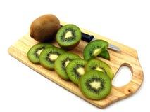 Fresh sliced & whole kiwi fruits Stock Photo