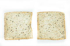 Fresh sliced wholewheat bread with various seeds and multigrain Stock Photo