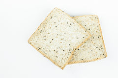 Fresh sliced wholewheat bread with various seeds and multigrain Stock Photos