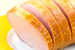 Fresh Slices Of Baked And Smoked Ham Royalty Free Stock Photography