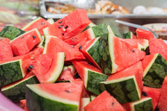 Fresh slices of red watermelon Stock Image