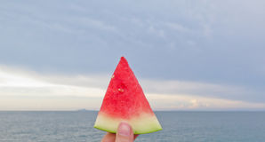 Fresh slices of red watermelon Royalty Free Stock Photos