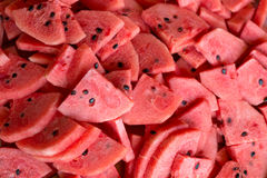 Fresh slices of ripe watermelon Stock Image
