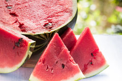 Fresh slices of ripe watermelon closeup Royalty Free Stock Photography