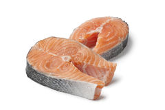 Fresh slices of salmon Royalty Free Stock Photography