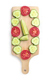 Fresh slices tomato and cucumber Royalty Free Stock Image