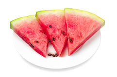 Fresh slices of watermelon Stock Photos