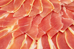 Fresh slide prosciutto Royalty Free Stock Photo