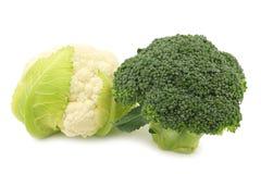 Fresh small cauliflower and broccoli Stock Photography