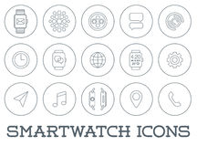 15 Fresh Smart Watch Trendy Icons. EPS 10 royalty free illustration