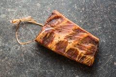 Fresh smoked bacon Stock Photo