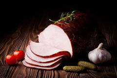 Fresh smoked ham Royalty Free Stock Photography