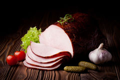 Fresh smoked ham Royalty Free Stock Photos