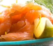 Fresh smoked salmon Stock Photography