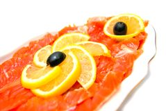 Fresh smoked salmon close-up Royalty Free Stock Photography